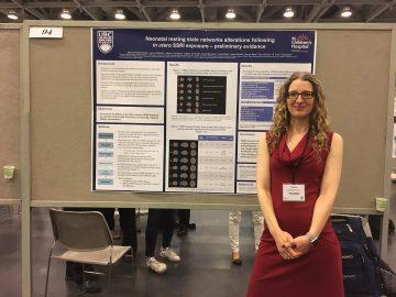 Naama Rotem-Kohavi presents her results on resting-state functional MRI in infants prenataly exposed to antidepressant drugs