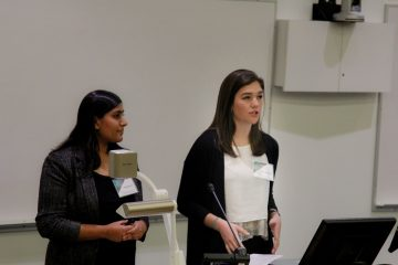 Zahra and Maya discuss their Research at an Undergraduate Research Conference